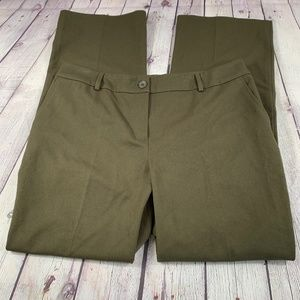 Talbots Signature Straight Pants Green Size 14